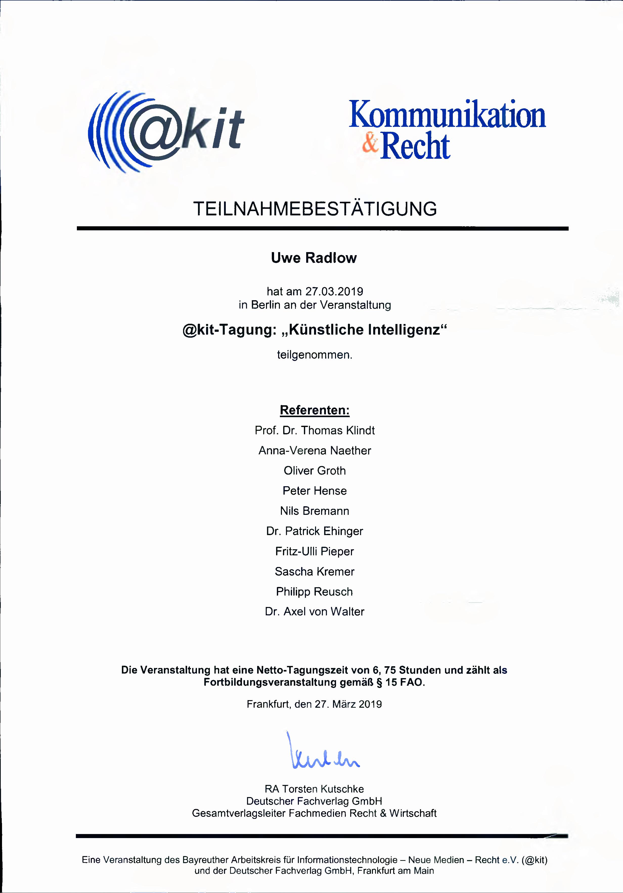2019-03-27_Teilnahmebestätigung_akit_Tagung_Künstliche_Intelligenz